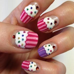 nail art cupcake