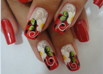 nail art fiori